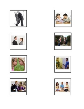 Personal Space Social Story and Cut-n-Paste Activity for Preschool or Autism
