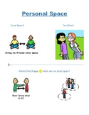 Personal Space Social Story and Cut-n-Paste Activity for P