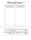 Personal Space Worksheet