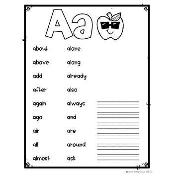 Personal Spelling Dictionary EDITABLE