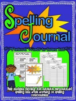 Personal Spelling Journal