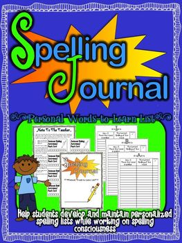 Personal Spelling Journal
