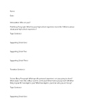 Personal Statement Body Paragraph Planning Sheet