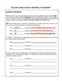 Personal Statement College Admission Essay