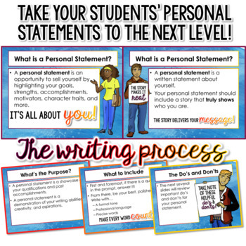 Personal Statement Writing: Lesson, Handouts, Prompts, Rubrics