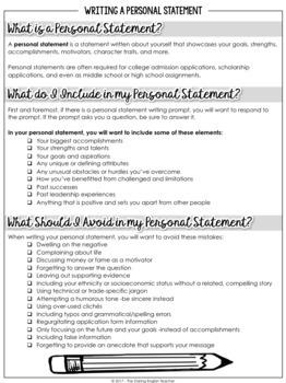 personal statement writer