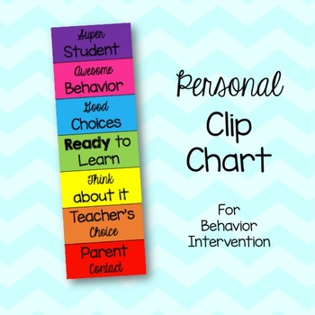 Personal Student Behavior Clip Chart