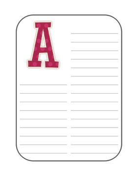 Personal Student Dictionary (Polka Dots Theme)