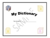 Personal Student Dictionary (blank)