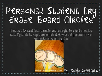 Personal Student White Board Circles