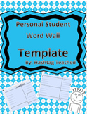 Personal Student Word Wall Template