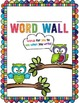 Personal Student Word Wall - Use with a File Folder! **Owl