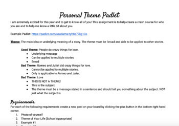 Personal Theme Project