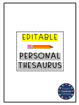 Personal Thesaurus | EDITABLE