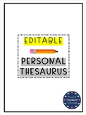 Personal Thesaurus | EDITABLE