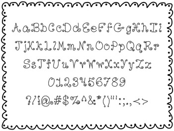 chickie squiggs font - personal use