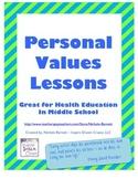 Personal Values Unit (Health Education)