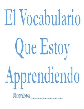Free Personal Vocab. Book for Spanish Speakers
