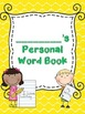 Personal Vocabulary Book for Fifth Grade