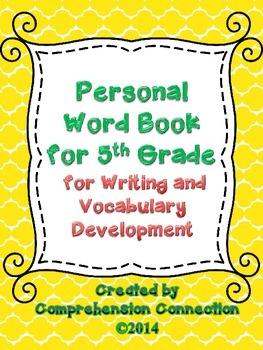 Personal Vocabulary Book for Fifth Grade
