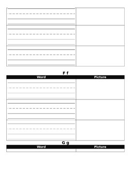 Personal Vocabulary Booklet for Students