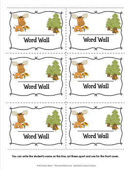 WORD WALL - FOREST FRIENDS
