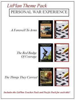 Personal War Experience Novel Unit Theme Pack Bundle