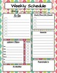 Personal Weekly Planner Sheet Spring Themes Greens Pinks Blues