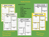 Personal Weekly Planner Sheet Yellow and Grey