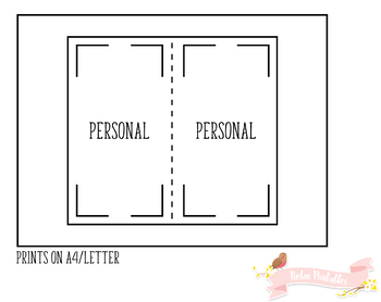 Personal Weekly Planner Traveler Notebook Refill