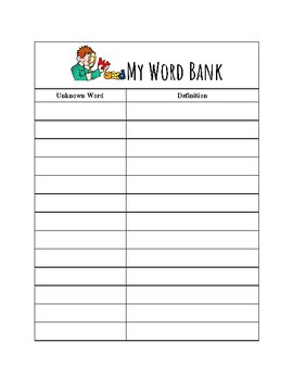 Personal Word Bank
