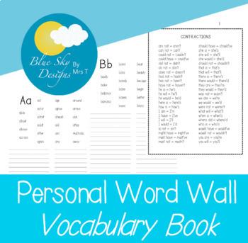 Personal Word Book - Aussie Version
