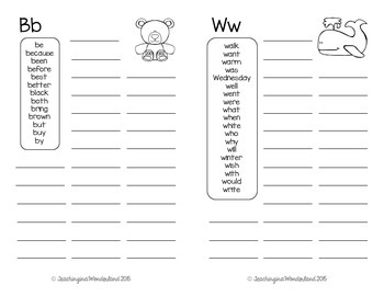 Personal Word Book {Letters A to Z}