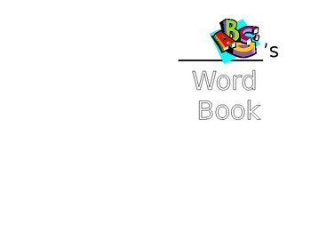 Personal Word Book - Primary