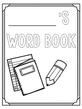 Personal Word Books with Variety of Covers