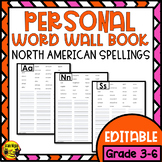 Personal Word Wall Book- North American Version