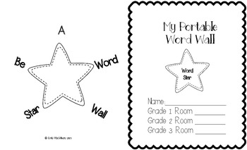 Personal Word Wall Book for Grades 1 to 3