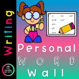 Personal Word Wall Distance Learning - FREE