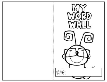 Personal Word Wall **EDITABLE**