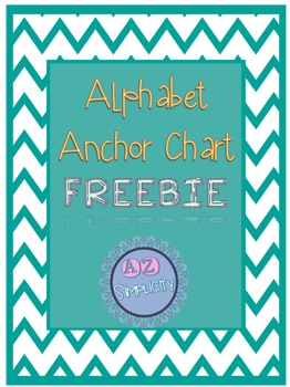 Personal Alphabet Anchor Chart FREEBIE!