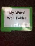 Personal Word Wall Folder