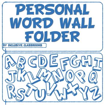 Personal Word Wall Folder Teaching Resources | Teachers Pay Teachers