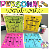 Personal Word Wall Folder: Editable Templates Included
