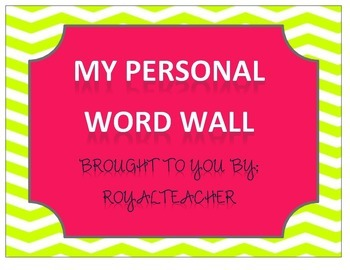 Personal Word Wall, Portable Word Wall A-Z