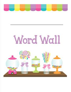 Personal Word Wall - Sweet Shoppe Theme