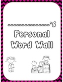 Personal Word Wall Template Kit