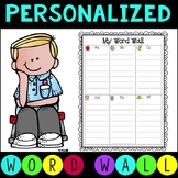 Personal Word Wall for Students  EDITABLE