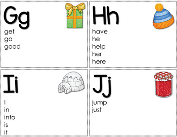 Personal Word Wall with Pre-Primer and Primer Words (Color & BW)