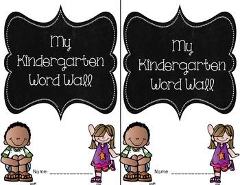 Personal Word Walls Kindergarten