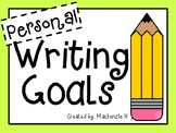 Personal Writing Goals Checklist